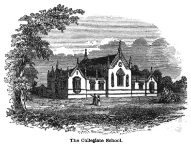 The Collegiate School in 1840.
